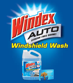 Win 1 of 5 $500 Visa Cards from Windex Wash