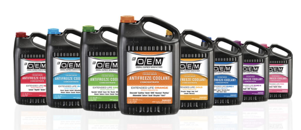 OEM Antifreeze redesigned with NEW color-coded system!